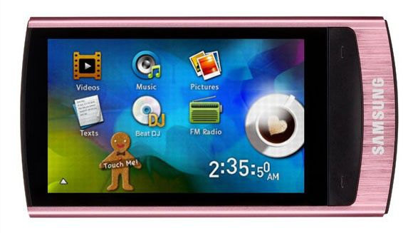 MP3 плеер SAMSUNG YP-R1AP flash 4Гб розовый [yp-r1ap/xer]