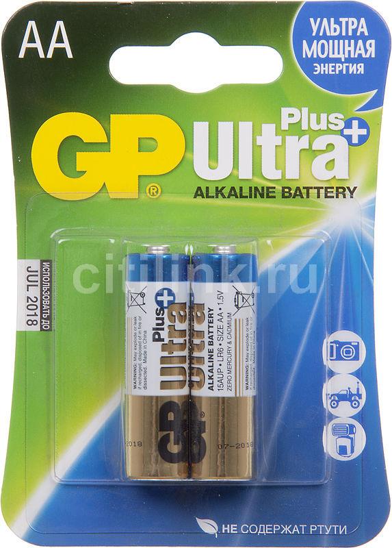 Батарея GP Ultra Plus Alkaline 15AUP LR6,  2 шт. AA