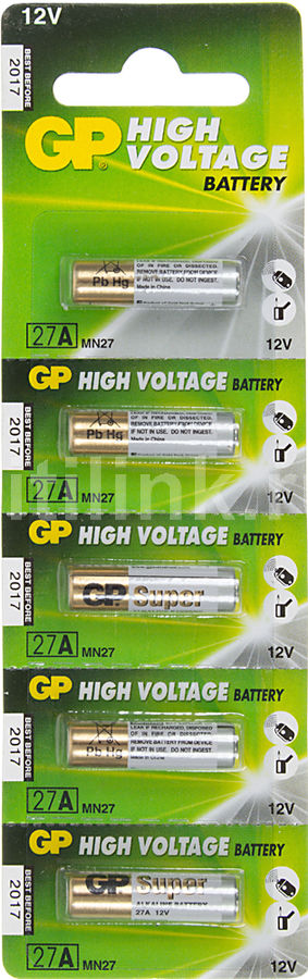 Батарея GP Super Alkaline 27A,  5 шт. MN27