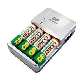 Аккумулятор + зарядное устройство GP PowerBank GPPB520GS250RA-2UE4,  4 шт. AA,  2500мAч