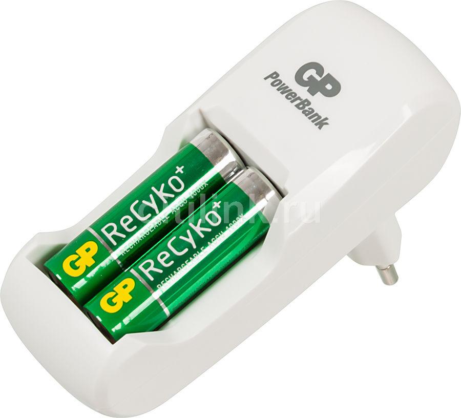 Аккумулятор + зарядное устройство GP Recyko AR02GS210B-CR2,  2 шт. AA,  2100мAч