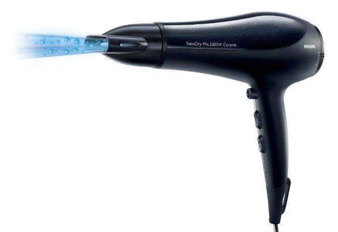 Фен PHILIPS HP4991, 2200Вт, черный