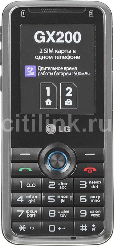 Мобильный телефон LG GX200  черный