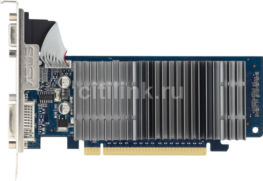 Видеокарта ASUS GeForce 210,  512Мб, DDR2, Low Profile,  Ret [en210 silent/di/512md2(lp)/a]