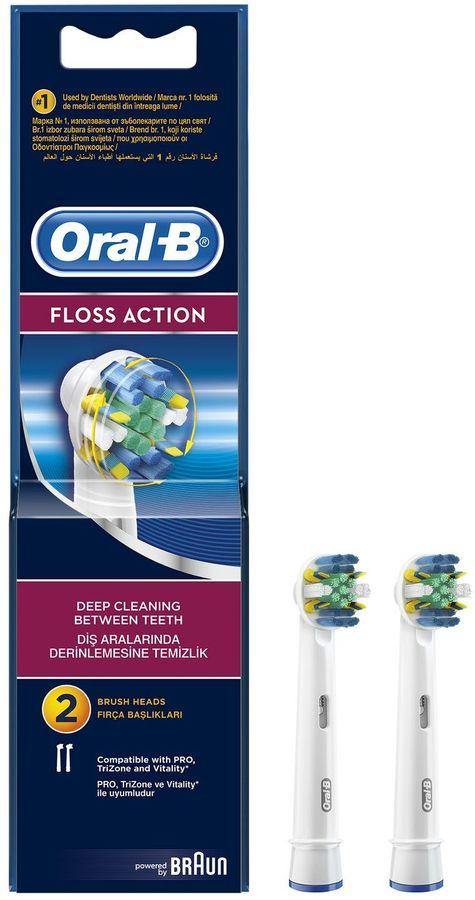 Сменные насадки  для электрических зубных щеток ORAL-B Floss Action 2 шт [81317997]