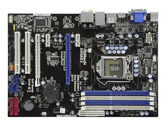 Материнская плата ASROCK H55DE3 LGA 1156, ATX, Ret