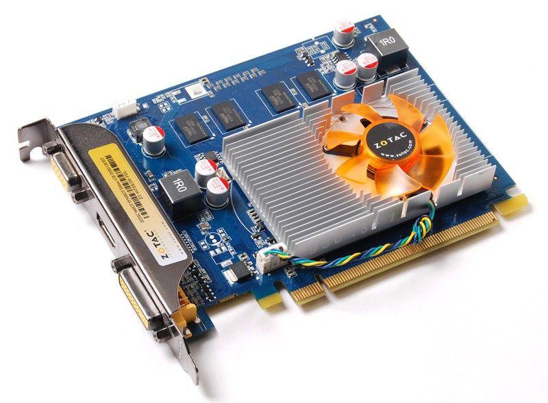 Видеокарта ZOTAC GeForce 9400 GT,  1Гб, DDR2, Ret [zt-94tek3m-fdl]