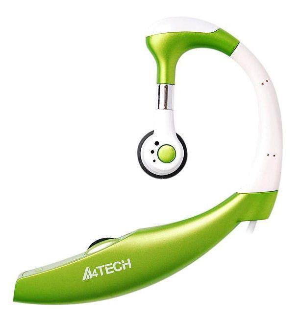 Моно гарнитура A4 HS-12-2,  накладные, зеленый  [hs-12-2 (green)]