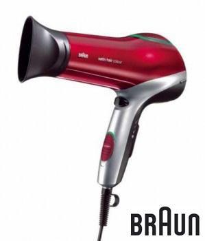 Фен BRAUN SPI-C200DF, 2000Вт, серебристый и красный