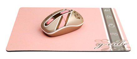 Мышь G-CUBE Royal Club G7MR-1020RI оптическая беспроводная USB, золотистый и розовый