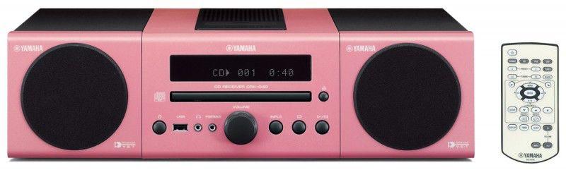 Музыкальный центр YAMAHA MCR-040,  розовый