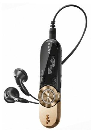MP3 плеер SONY NWZB153FN flash 4Гб золотистый