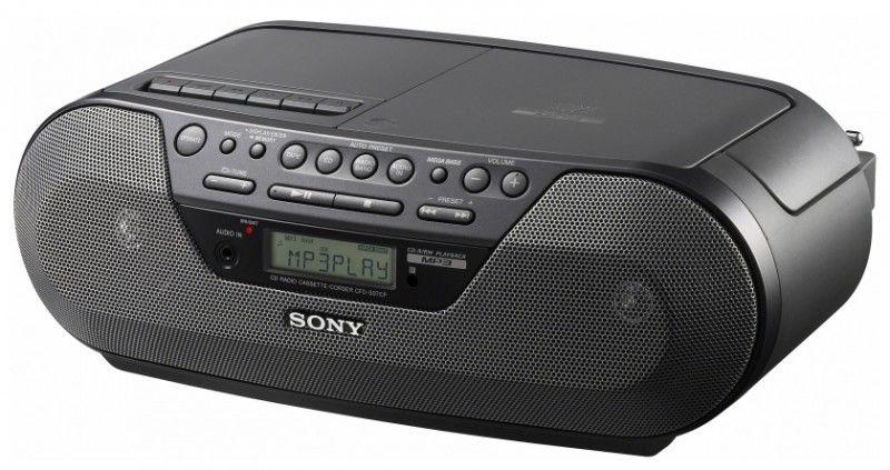 Аудиомагнитола SONY CFD-S07CP,  черный
