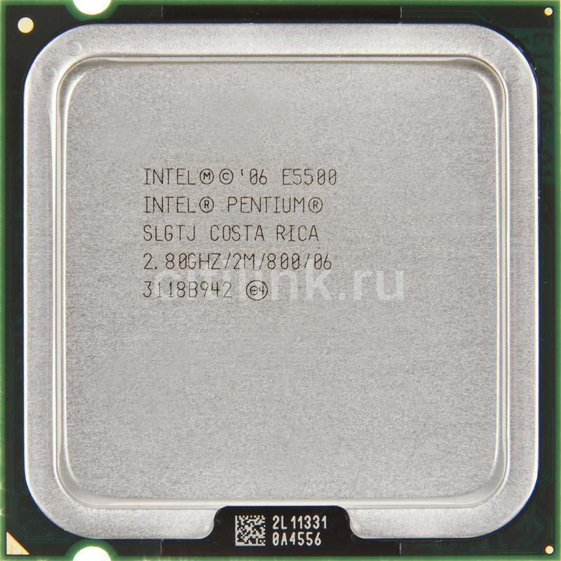 Процессор INTEL Pentium Dual-Core E5500, LGA 775 [at80571pg0722mls lgtj]