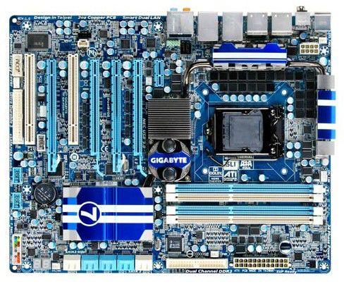 Материнская плата GIGABYTE GA-P55A-UD7, LGA 1156, Intel P55, ATX, Ret