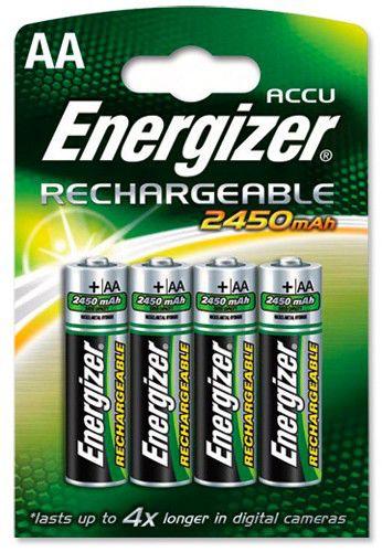 Аккумулятор ENERGIZER HR6,  4 шт. AA,  2450мAч