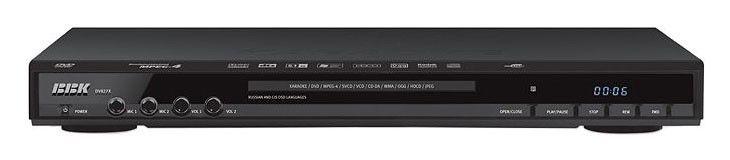DVD-плеер BBK DV827Х,  черный,  диск 2000 песен