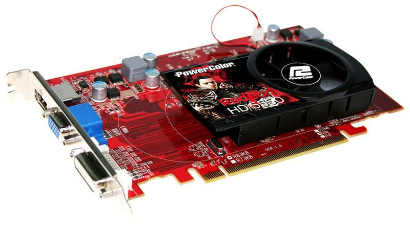 Видеокарта POWERCOLOR AMD  Radeon HD 5550 ,  1Гб, DDR3, Ret [ax5550 1gbk3-h]