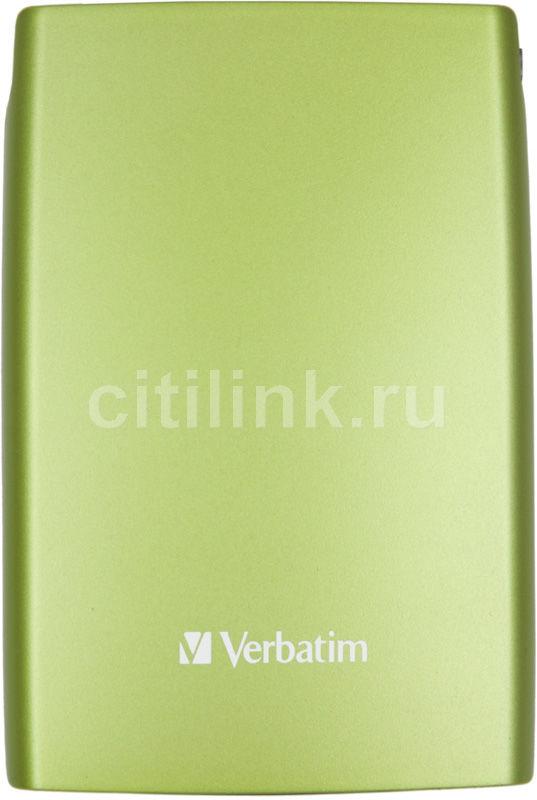 Внешний жесткий диск VERBATIM Store n Go 500Гб, зеленый [53009]