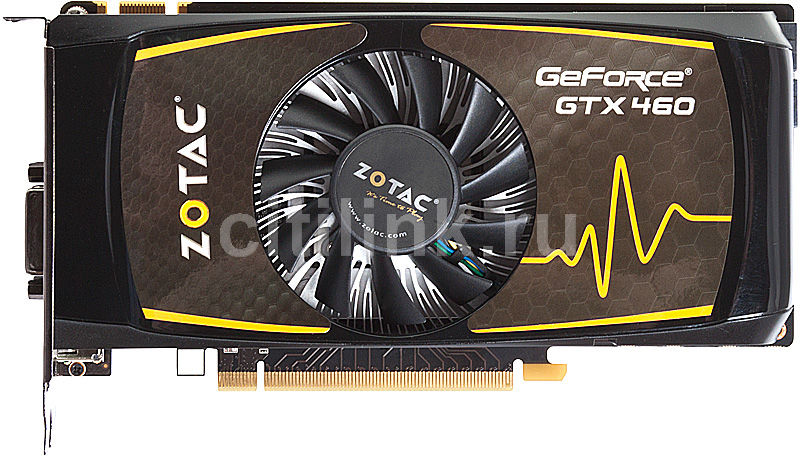 Видеокарта ZOTAC GeForce GTX 460,  768Мб, GDDR5, Ret [zt-40404-10p]