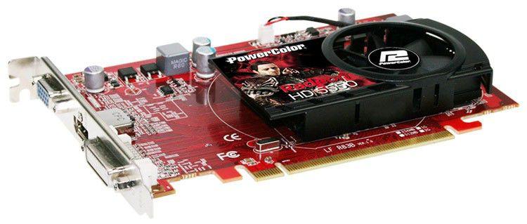 Видеокарта POWERCOLOR Radeon HD 5570,  1Гб, DDR2, oem [ax5550 1gbd2-h bulk]
