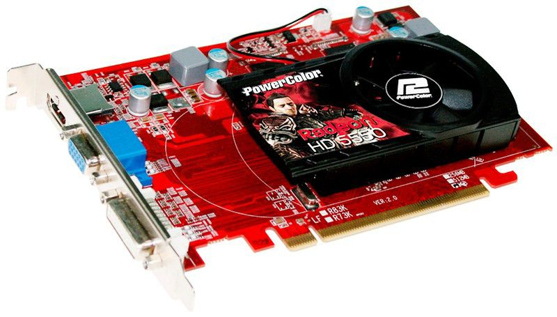 Видеокарта POWERCOLOR Radeon HD 5550,  1Гб, DDR3, oem [ax5550 1gbk3-hv2 bulk]