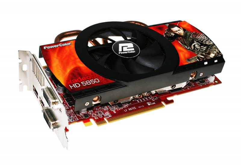 Видеокарта POWERCOLOR Radeon HD 5850,  1Гб, GDDR5, Ret [ax5850 1gbd5-dh]
