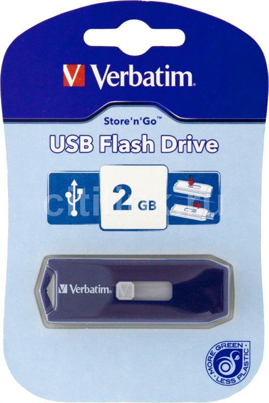 Флешка USB VERBATIM Store n Go 2Гб, USB2.0, синий [44091]