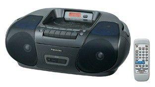Аудиомагнитола PANASONIC RX-D29E-K,  черный