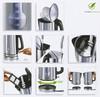 Чайник электрический PHILIPS HD4670, 2400Вт, серебристый и черный вид 3