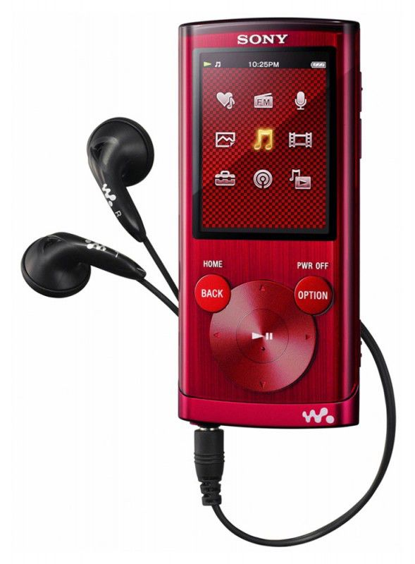 MP3 плеер SONY NWZE454R flash 8Гб красный