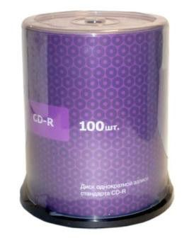 Диск CD-R Intro 700Mb 52x Cake Box (1шт) (100)