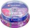 Оптический диск DVD+R VERBATIM 4.7Гб 16x, 25шт., cake box, разноцветные [43733] вид 1