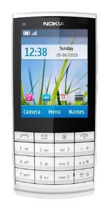 Мобильный телефон NOKIA X3-02,  серебристый