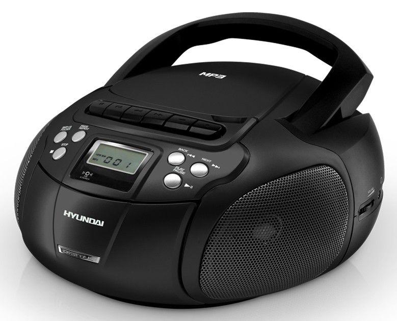 Аудиомагнитола HYUNDAI H-1407,  черный