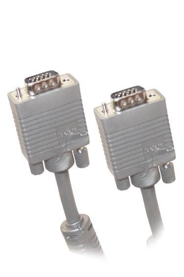 Кабель VGA  DB15 (m) -  DB15 (m),  ферритовый фильтр ,  5м,  серый [bw1473]