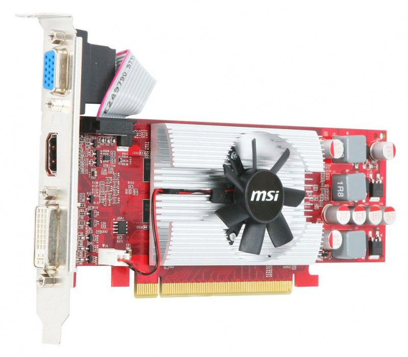 Видеокарта MSI GeForce GT 220,  1Гб, DDR3, Low Profile,  oem [n220gt-md1gd3/lp]