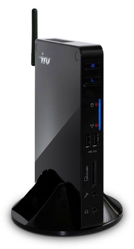 Неттоп  IRU 115,  Intel  Atom  D525,  DDR2 2Гб, 500Гб,  Intel GMA 3150,  без ODD,  CR,  Windows 7 Starter,  черный