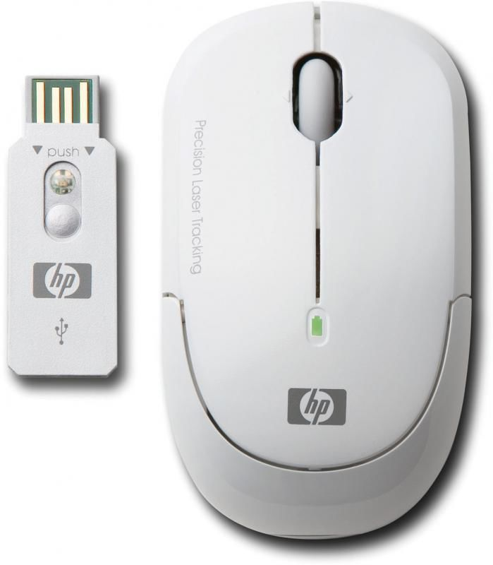 Мышь HP KM407AA лазерная беспроводная USB, белый