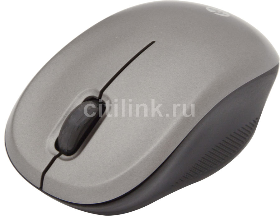 Мышь HP WX413AA оптическая беспроводная USB, серый и черный