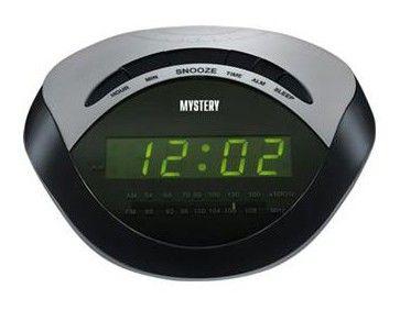 Радиобудильник MYSTERY MCR-46, зеленая подсветка,  черный