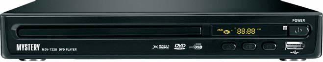 DVD-плеер MYSTERY MDV-732U,  черный
