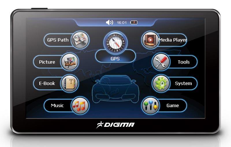GPS навигатор DIGMA DS502N,  5