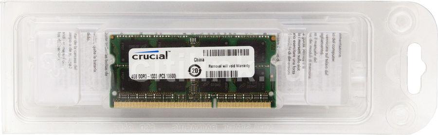 Модуль памяти CRUCIAL CT51264BC1339 DDR3 -  4Гб 1333, SO-DIMM,  Ret