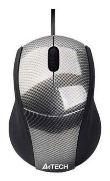 Мышь A4 Q3-100 оптическая проводная USB, серый [q3-100-1]