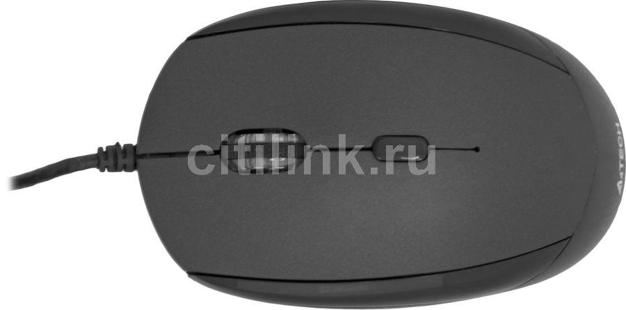 Мышь A4 Q3-200X-1 оптическая проводная USB, черный