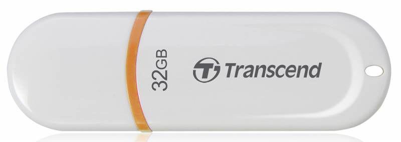 Флешка USB TRANSCEND Jetflash JF330 32Гб, USB2.0, белый и оранжевый [ts32gjf330]