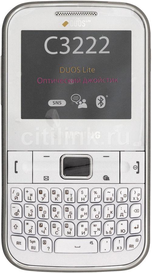 Мобильный телефон SAMSUNG GT-C3222  белый