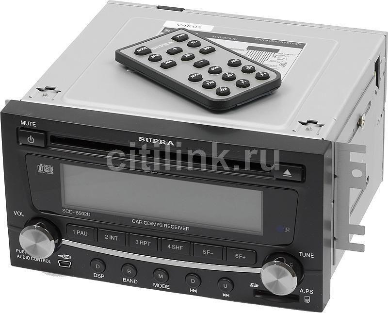 Автомагнитола SUPRA SCD-B502U,  USB,  SD/MMC