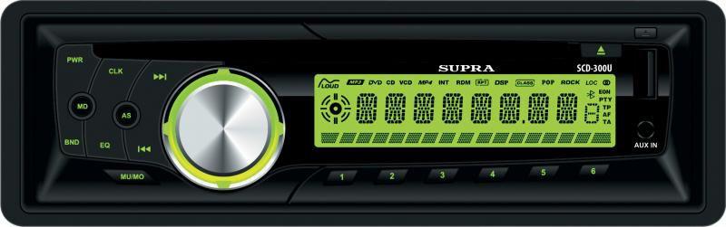 Автомагнитола SUPRA SCD-300U,  USB,  SD/MMC
